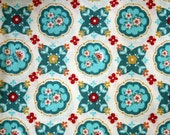 Domestic Bliss Kitchenette 1 Yard Cut - Aqua Colorway