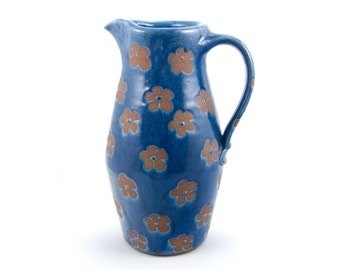Pitcher (blue with flower pattern)