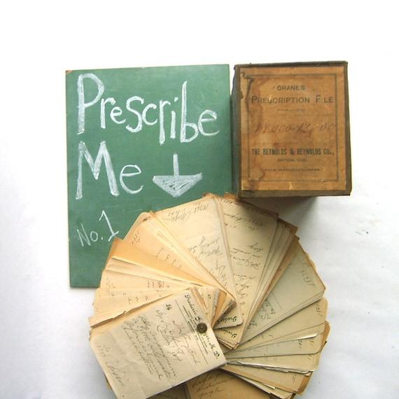 Pharmacy Box Full of Handwritten Medicine Prescriptions No. 1