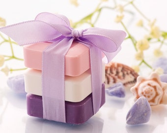 Soap - Gift Sets - Organic Soap  - 3 Bars -  6 oz. Each - Essential Oil Soaps - Natural Soaps   -  Handmade Soap  - Choose Your  Own Scent