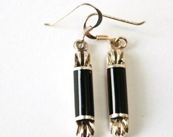 ONYX //// Sterling Silver Earrings