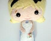 Tiny Stuffed Felt Alice in Wonderland