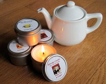 TEA SAMPLER (four 2-oz soy candles)