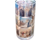 Custom Memory Vase - your photos on glass - personalized 3D photo album