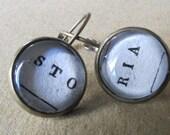 Italian book earrings