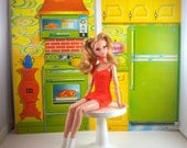 Vintage Barbie 1970s Surprise House backdrops. A great fit for Blythe and your fashion doll furniture and dioramas