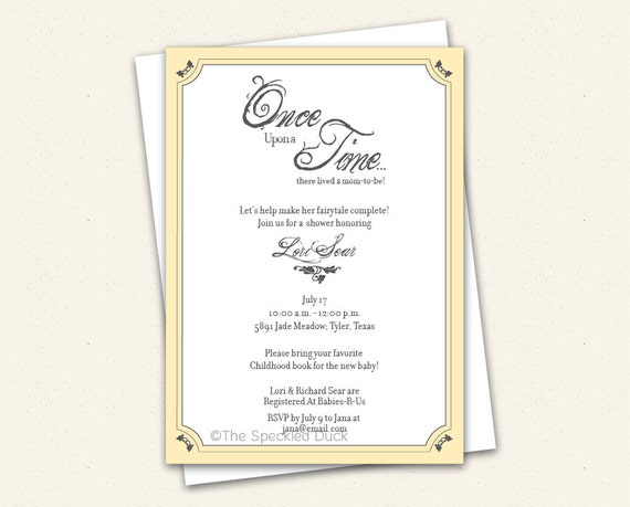 items similar to once upon a time custom baby shower invitation on, Baby shower invitations