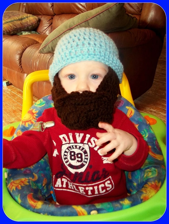 Lumberjack First Birthday, Lumberjack Party Supplies, Lumberjack Baby Shower, Baby Beard, Baby Beard Beanie, Baby Beard Hat, Blue Beard Hat