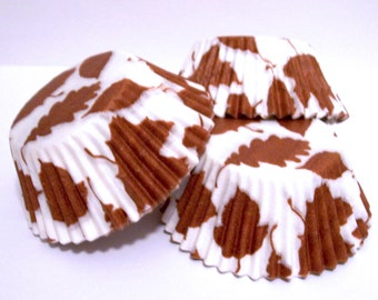 Fall Leaves Cupcake Liners- Choose Set of 50 or 100