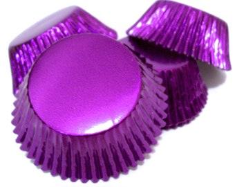 Dark Purple Foil Standard Size Cupcake Liners- Choose Set of 50 or 100