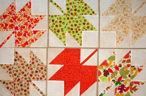 Autumn Leaves Quilt Blocks