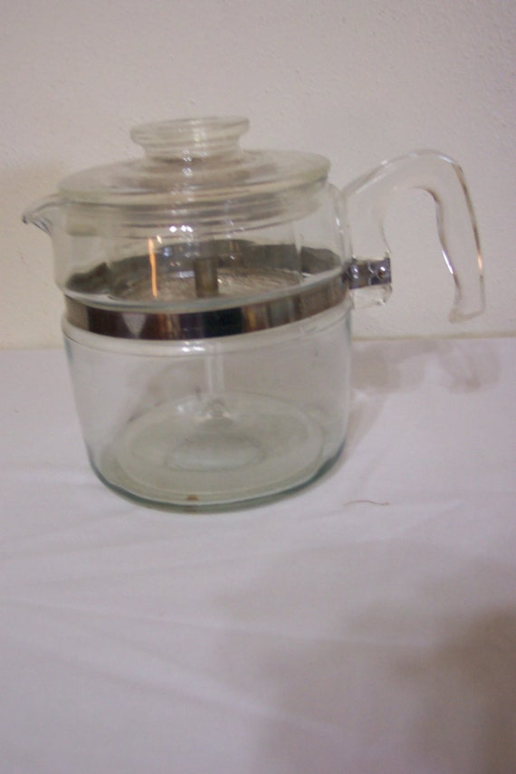 Pyrex Glass Percolator Flame Ware 6 Cup Coffee Pot