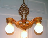 Antique Pendant Ceiling Lighting Virden Light Fixture Vintage Art Deco Nouveau Hanging Lamp