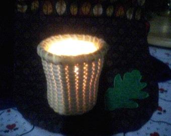Nantucket Lightship Style Basket Candle