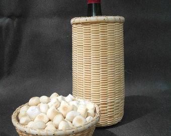 Wine Cracker Bowl, Nantucket  Lightship Basket Style