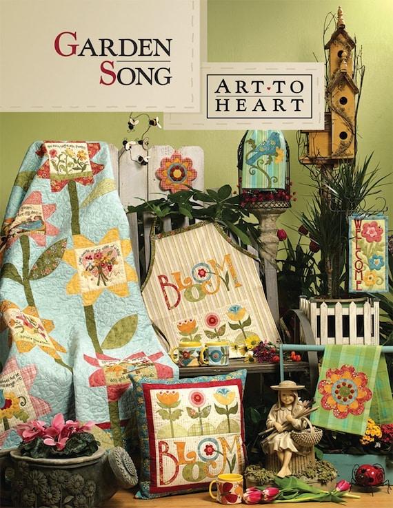 Garden Song Applique Patchwork Quilt By Moonlightmercantile