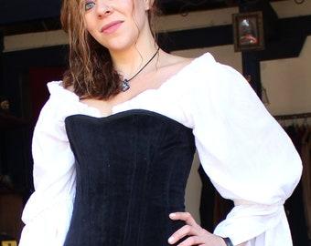 Black Velvet Corset Large