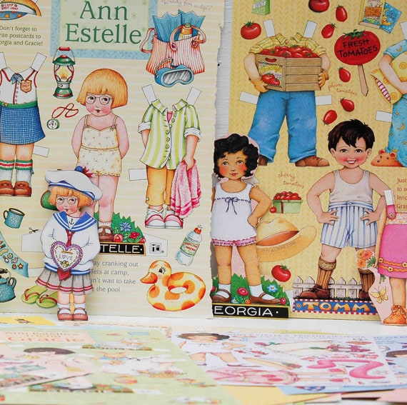 UNCUT Vintage Mary Engelbreit Paper Doll Collection Over 25 Pages