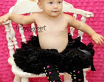 Black Dainty Dots Baby Leg Warmers