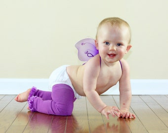Purple Orchid Baby Leg Warmers