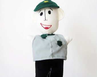 Bus Driver HandPuppet - Custom Made Mo Willems Character - from Pigeon Drives the Bus