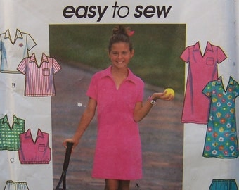Girls Dress, Top & Shorts - Simplicity 7608 Pattern - UNCUT