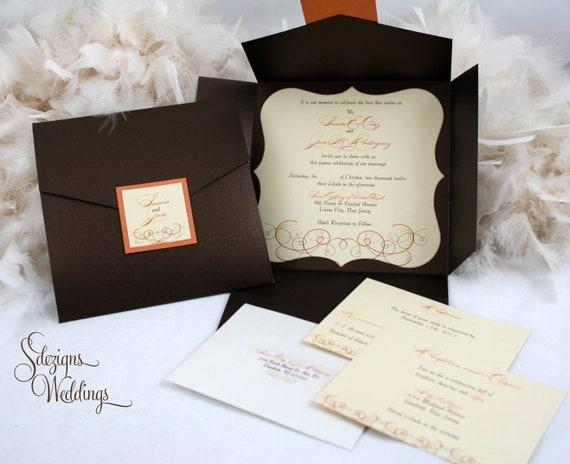 Autumn Wedding Invitation Fall Wedding Invitation – Beautiful Wedding Invitations