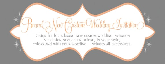 Brand New Custom Wedding Invitation Design By SDezigns
