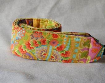 Ready to ship monogramming not available Camera Strap for DSL Camera  Pastel Paisley with stripe reverse