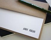 Men's Personalized Letterpress Notecards - Personalized Stationery - Set of 100