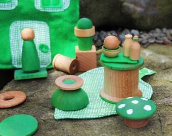 Fairy Friend - You Choose the Color - A Waldorf and Montessori Inspired Pretend Friend Play Set
