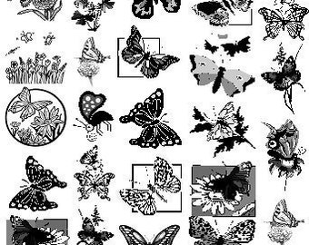 Fusible Glass Sepia Decals Butterfly Theme for Glass Fusers 060512 Fused Glass Decal Tutorial