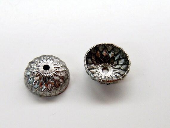 20 Acorn Bead Caps in Silver Bulk Order Lot OB-silver-acorn