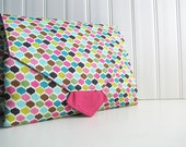 All-in-1 Changing Pad Diaper Clutch - Roco Beat Ornamental & Pink - Made to Order