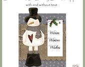 Snowman 3D Candy Bar Wrapper - Digital Printable - Immediate Download