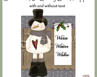 Snowman 3D Candy Bar Wrapper - Digital Printable - Immediate Download