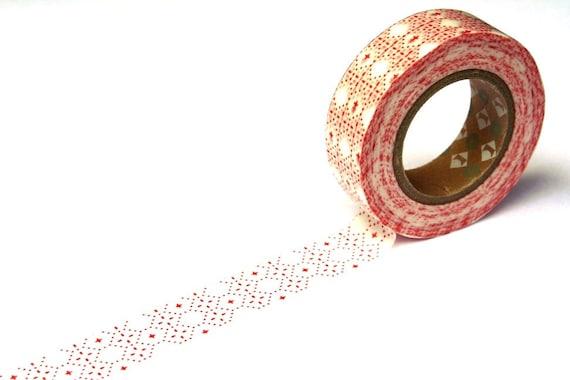 MT Washi Masking Tape - Kasuri Red