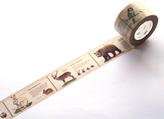 MT Washi Masking Tape -  Animal (mt ex)