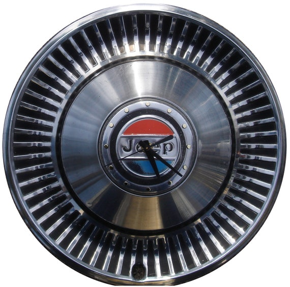 Jeep Hubcap Clock, with numbering (h hub cap)