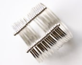"""Bold statement cuff, compilation of many individual flattened sterling silver wires formed into a dramatic bracelet - """"Isobel Cuff"""""""