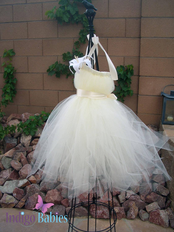 Tutu Dresses Flower Girl Tutu Dress Tutu Dress by indigobabies