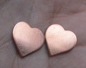 Copper Heart Discs/ half inch