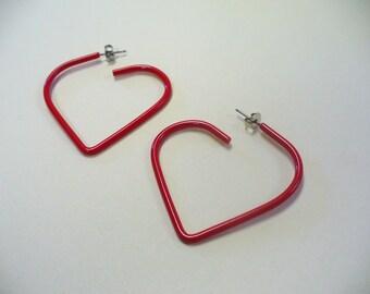 Vintage 80's Heart Earrings DEADSTOCK