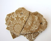 Christmas Inspired Shipping Tags Arabesque Brocade Design 30 High Quality Recycled Paper