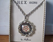 """Vintage Hex sign pendant, Hoffman""""Love and Romance"""" ,"""