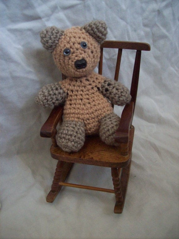 Vintage Doll Size Wooden Rocking Chair Was 10 00