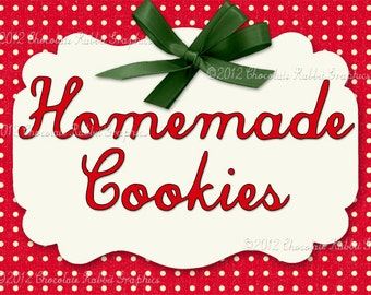 Christmas Cookie Label Vintage Retro Tag Digital Printable Image Collage Scrapbook Sheet