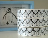Black and White Penguin Sticky Tape - 66 metres