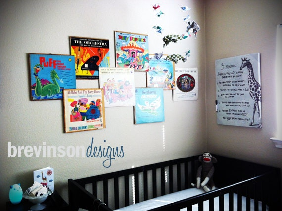 Items similar to Custom Vinyl Record Album Cover Wall Art ...