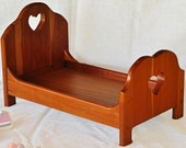 Cherry Wood Doll or Dog bed